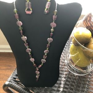 Handmade necklace with earrings